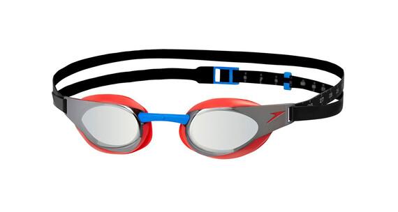 speedo Fastskin Elite Mirror Goggle Lava Red/Silver